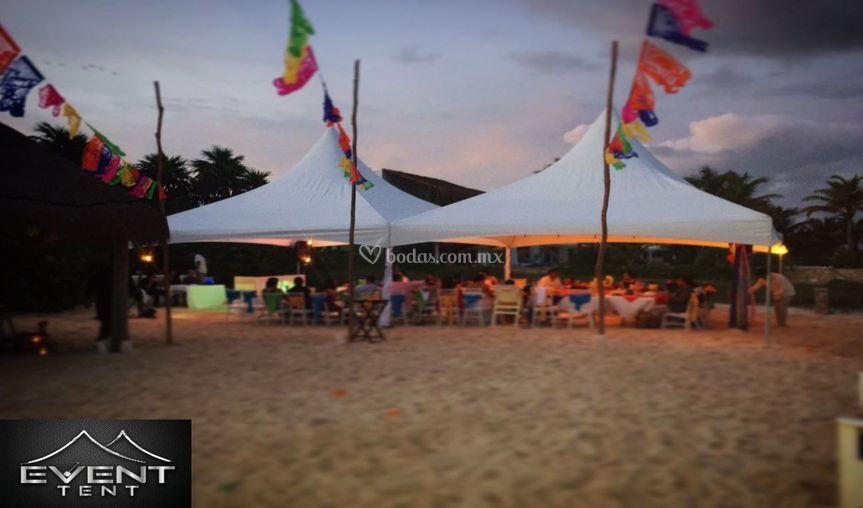 Recepción social en la playa