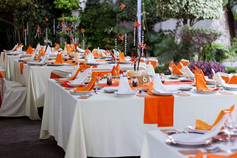 Centros de mesa boda otoñal