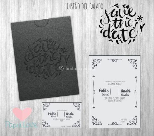 Invitación black & white