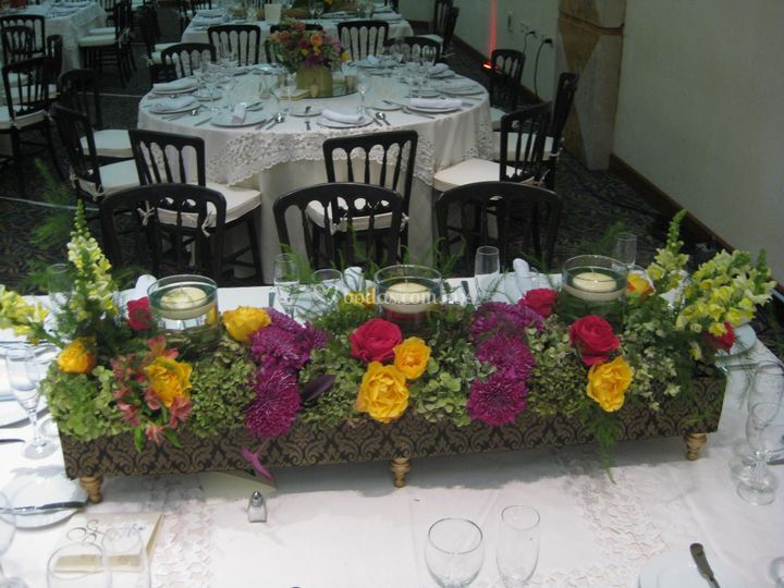 Centro de mesa color