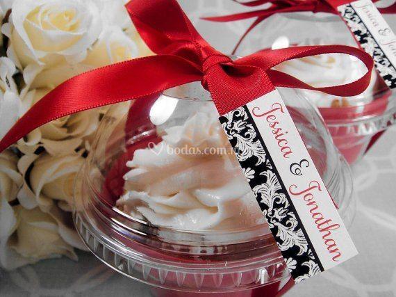 Cup cake personalizados boda