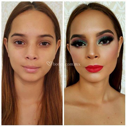 Maquillaje por Aline Padilla