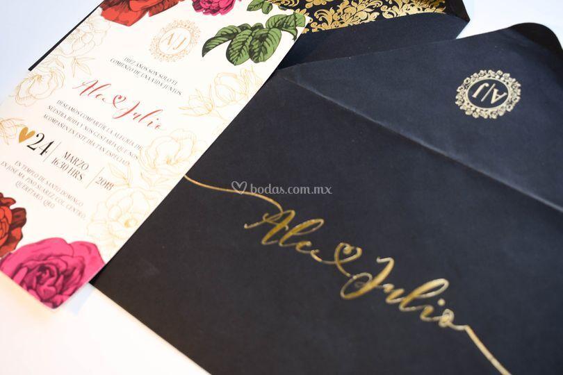 Postal 1/2 Carta con Foil