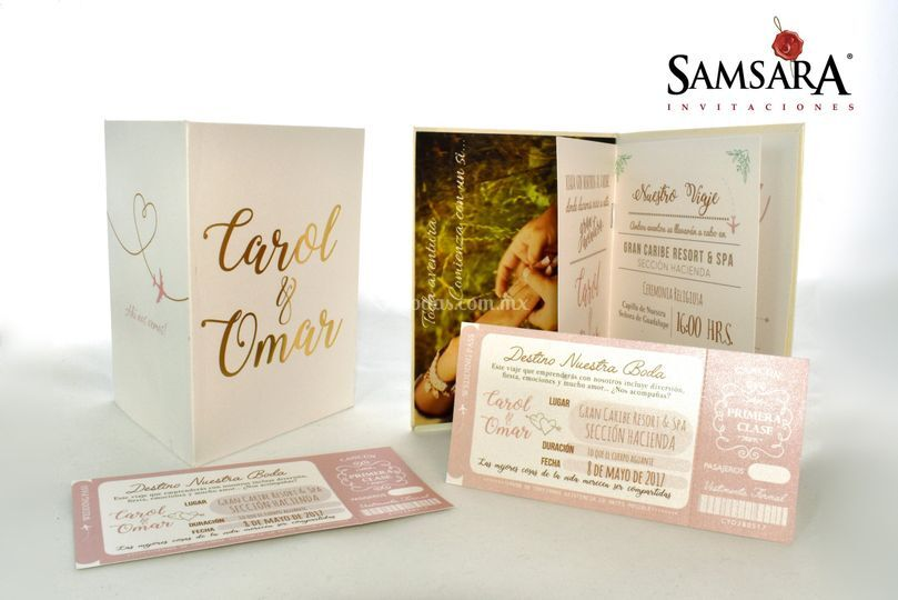 Pasaporte con Hot stamping