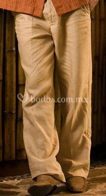 Pantalón de lino color camello