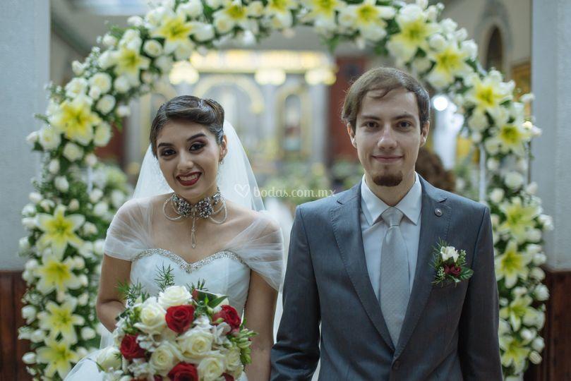 M y D, día de bodas