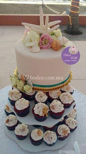 Combinado con cupcakes