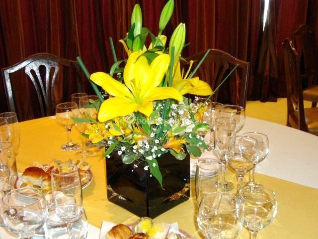 Centro de mesa con lily
