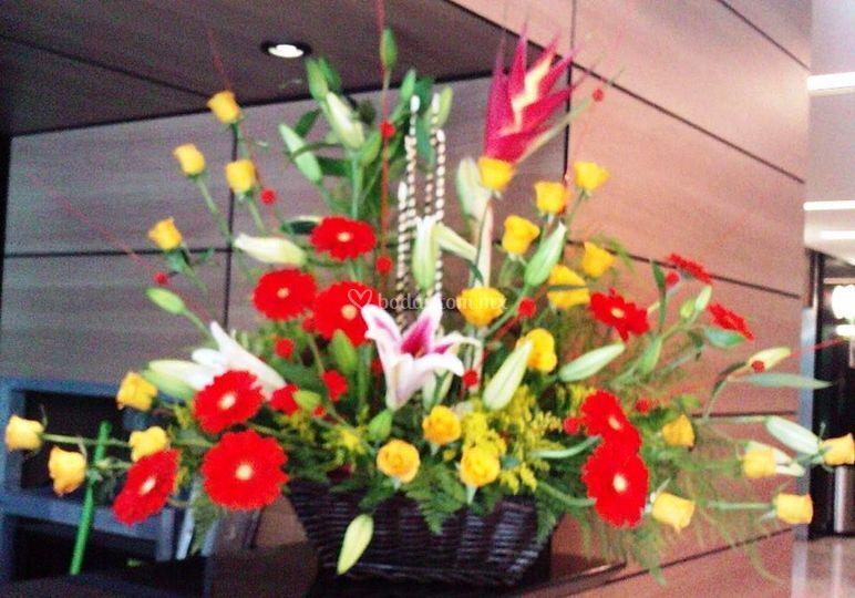Arreglo floral recepcion