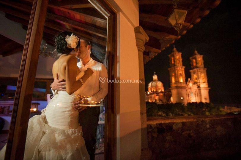 Su boda de noche