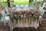 Bouquets para la mesa de honor