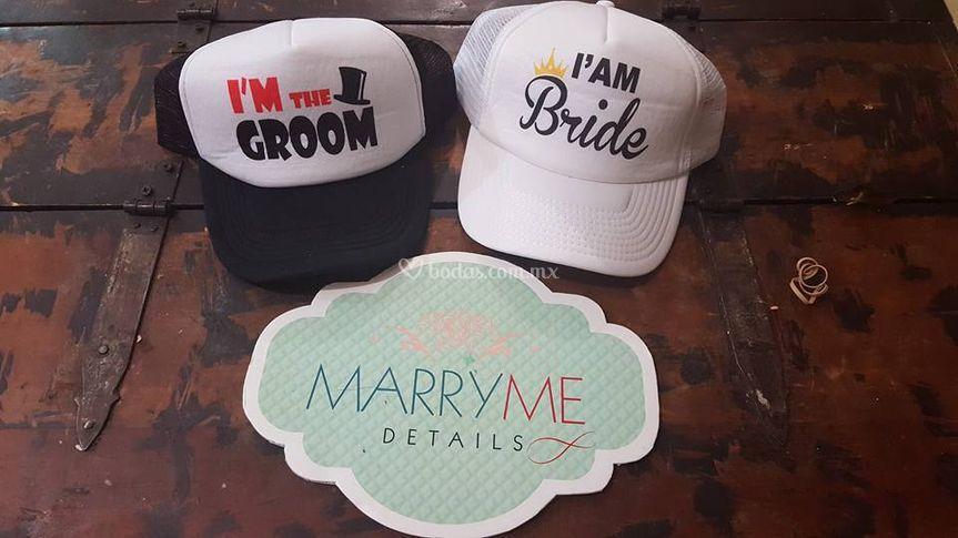 Gorras para novios