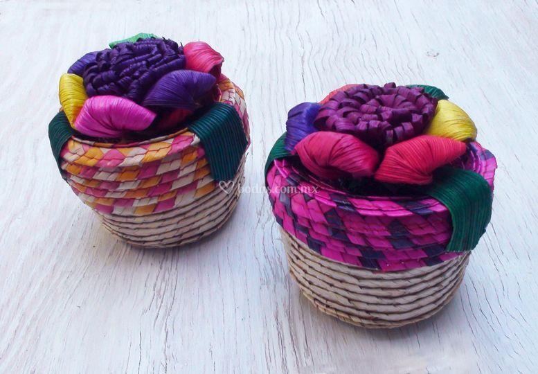 Mini canasta multicolor