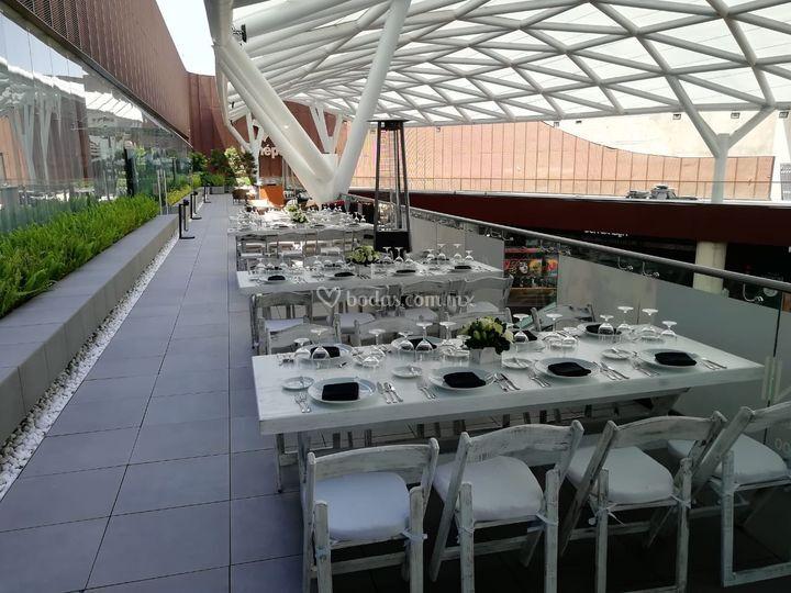 Comida en terraza