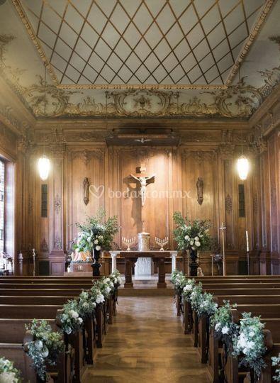 Arreglo floral iglesia