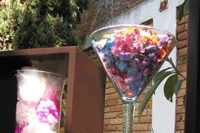 Decoración con copas gigantes
