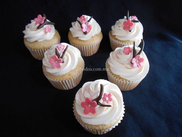 Cupcakes flor pimpollo