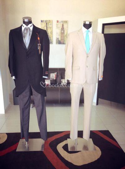 Jaquet y traje de lino