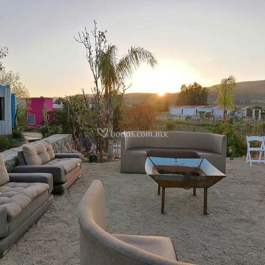 Área de estar con lounge