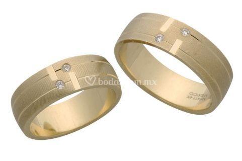 996f3914f815 Argolla oro amarillo y zirconias de El Mundo de las Argollas