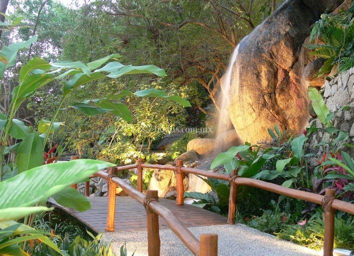 Restaurant zibu for Caidas de agua para jardin