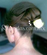 Peinado novia ondas recogidas