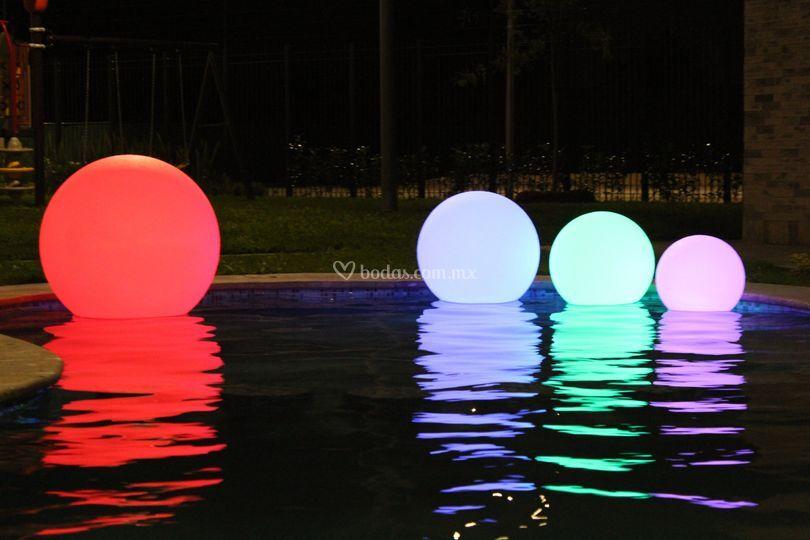 Esferas flotantes