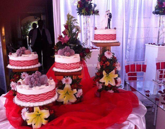Vista del pastel