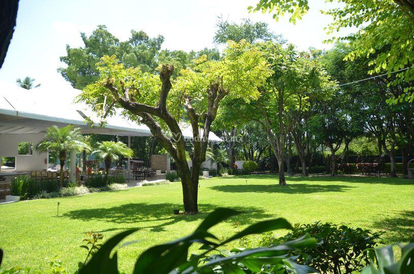 Vista jardín principal