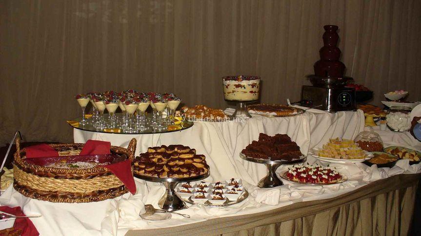 Mesas de dulce y saladito