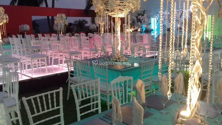 Matrimonio Tema Aqua : Jardín real eventos