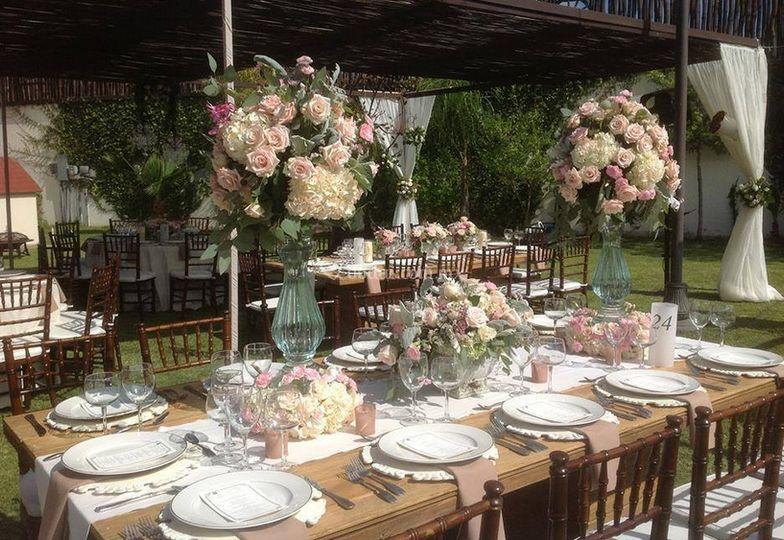 Elegante decoración floral