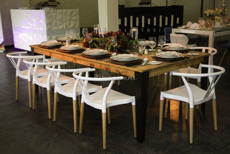 Mesa madera - silla christel