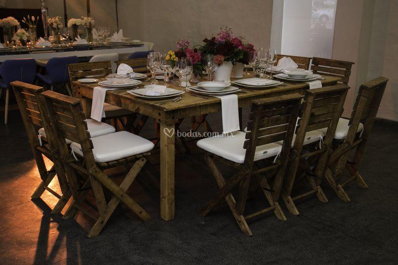 Mesa madera - silla paul