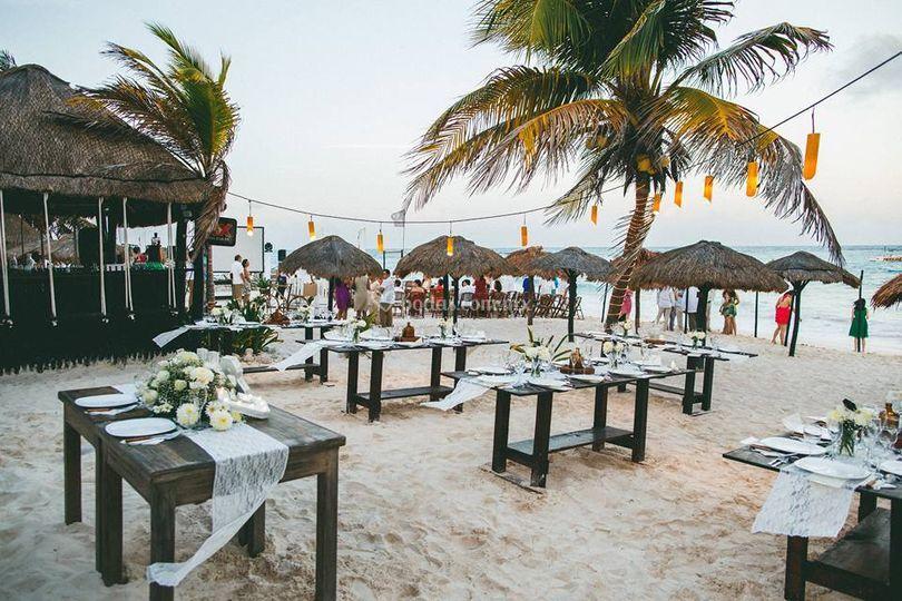 Montaje banquete aire libre