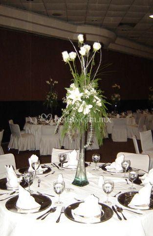 Decoración floral de las mesas