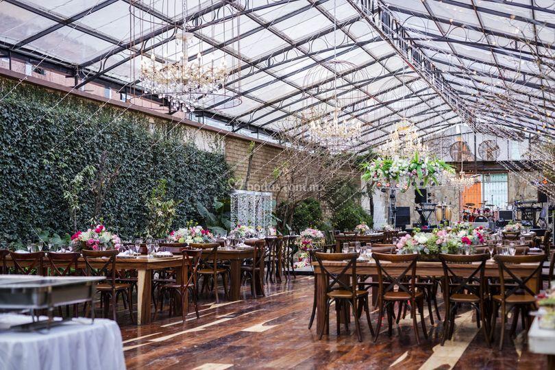 Salón jardín