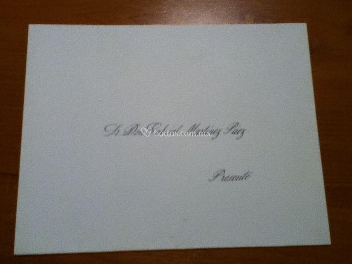 Rotulación de invitaciones Caligrafía Artística