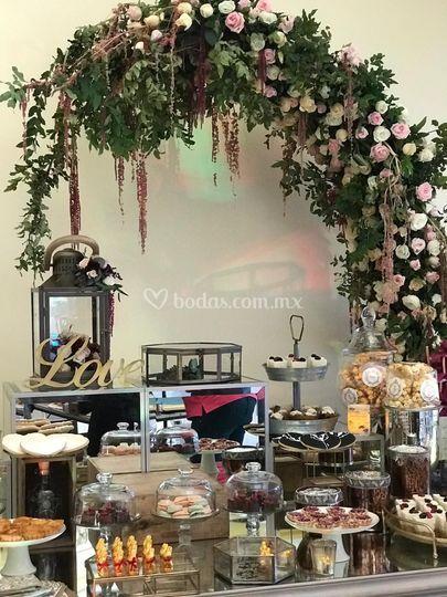 Arco para mesa de dulces