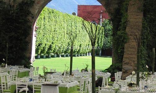 Jardín decorado para celebración