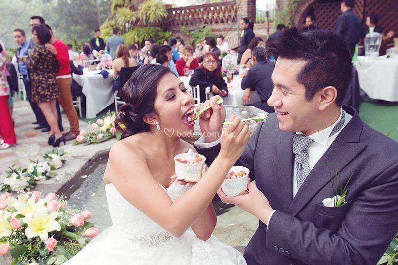 Un delicioso postre en tu boda
