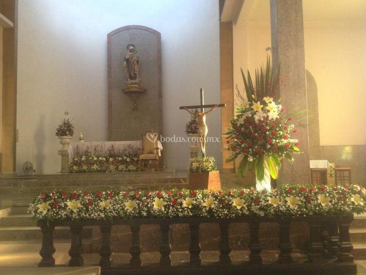 Jardineras para altar