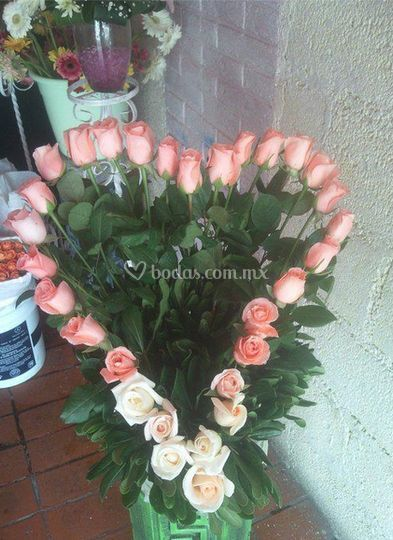 Corazones rosassa