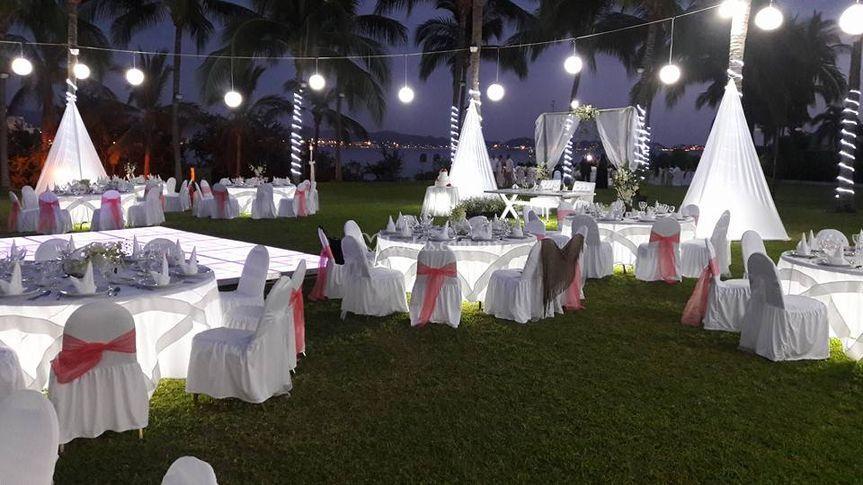 Banquete iluminado