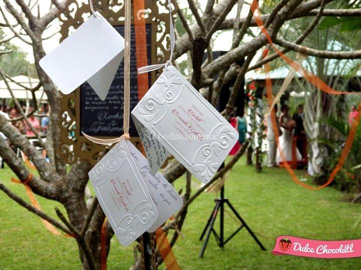 Tarjeta de árbol de los deseos
