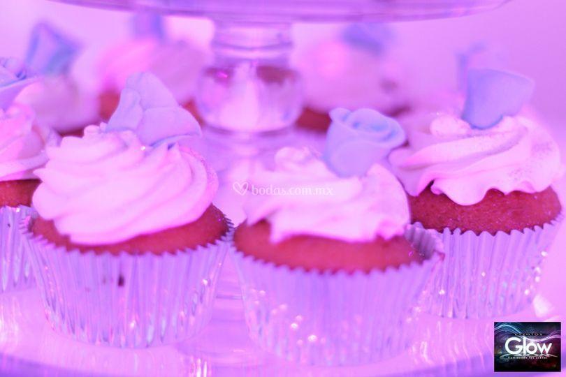 Cupcakes flor de fondant