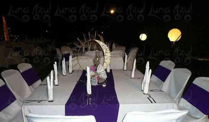 Decoración de la mesa de invitados