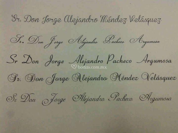 Tipos de letra para invitacin de Arte En Letra Rotulacin a mano