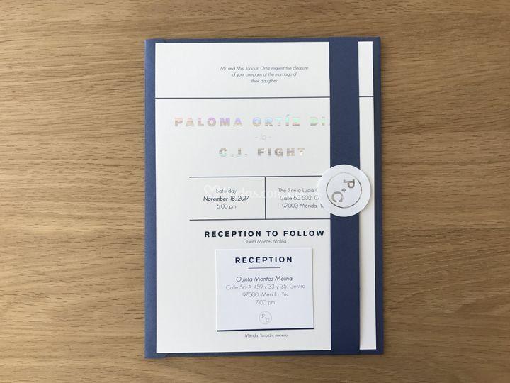 Invitación minimalista