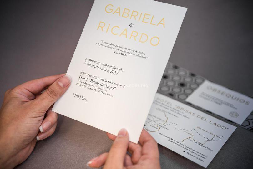 Invitación para bodas